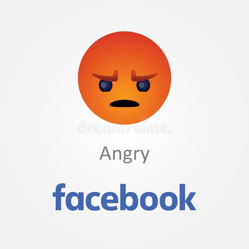 Baku, Azerbaijan - 23 de abril de 2019: Facebook nuevo como el bot?n Emoji stock de ilustración