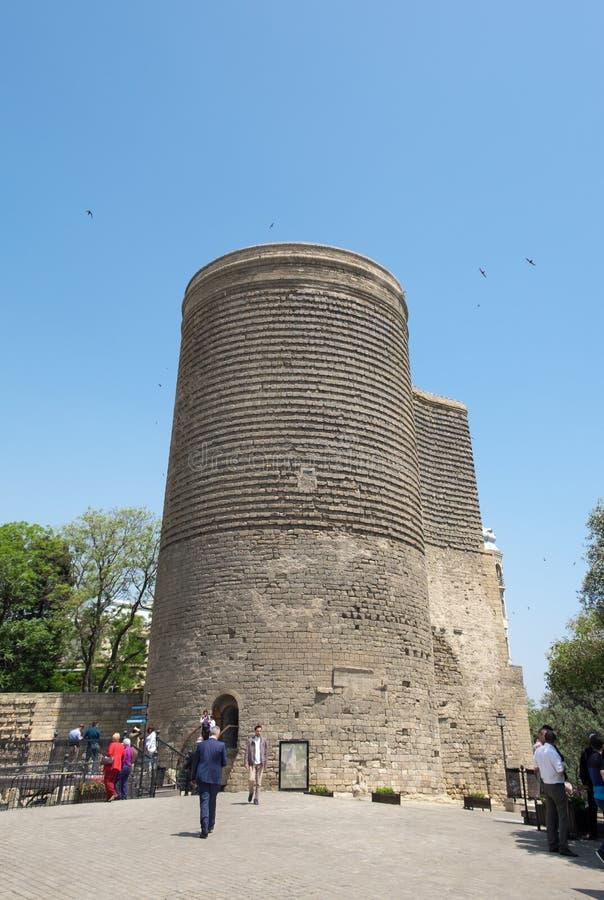 The Maiden Tower, Baku, Azerbaijan stock photos