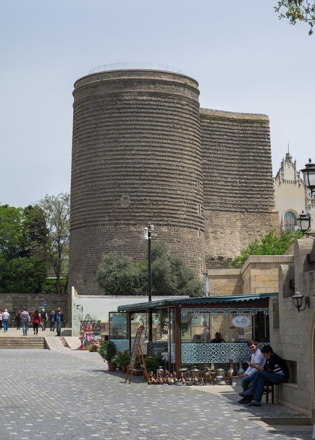 The Maiden Tower, Baku, Azerbaijan royalty free stock images