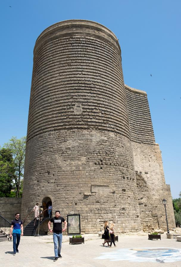 The Maiden Tower, Baku, Azerbaijan royalty free stock photos