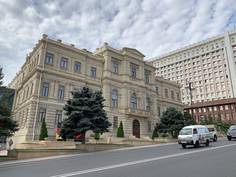 Baku, Azerbaijan, September, 12, 2019. National Museum of arts of Azerbaijan, second building. Baku stock images
