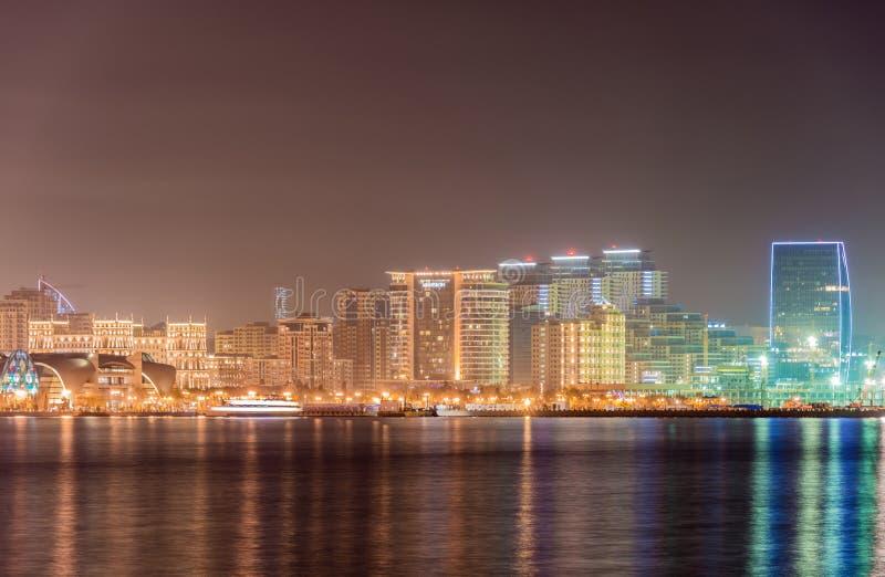 Baku Azerbaijan. Night skyline of Baku Azerbaijan stock images