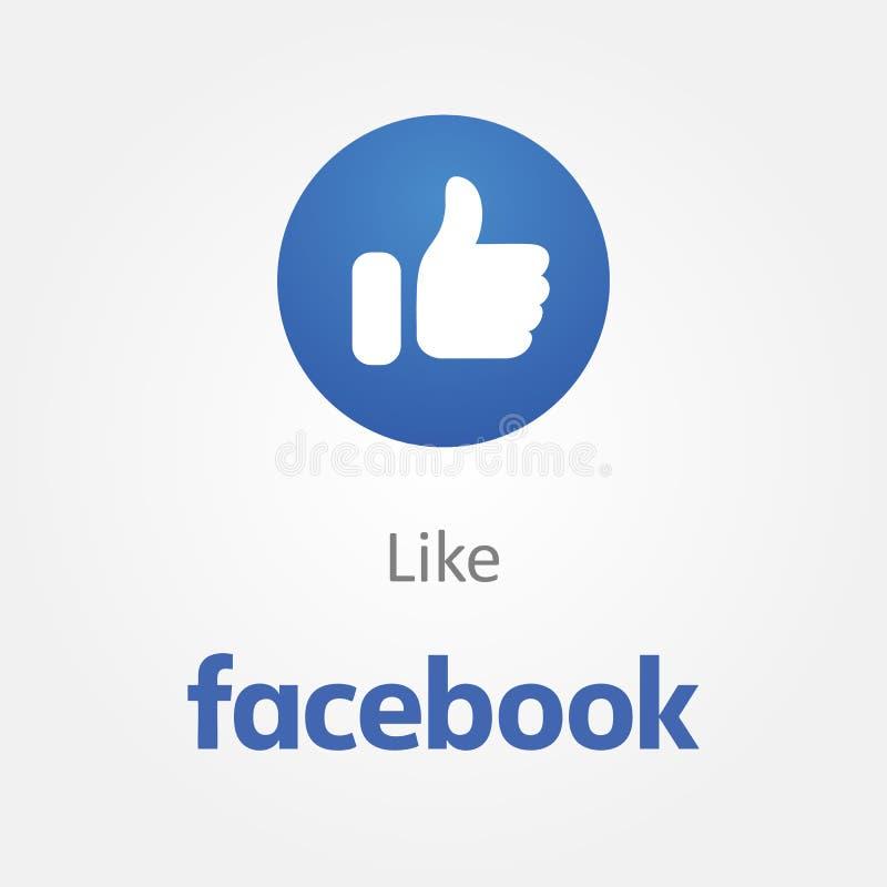 Baku, Azerbeidzjan - April 23, 2019: Facebook nieuw als knoop Emoji stock illustratie