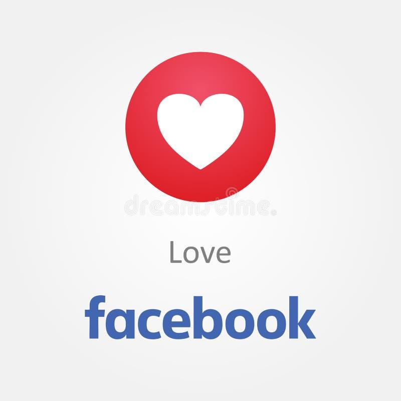Baku, Azerbeidzjan - April 23, 2019: Facebook nieuw als knoop Emoji royalty-vrije illustratie