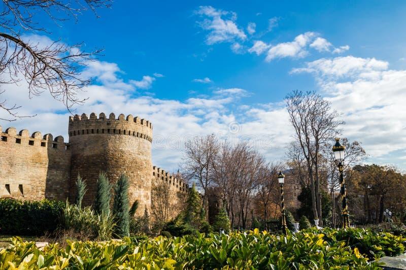 Baku, Azerbejdżan Widok na jeden środkowi parki zdjęcie stock