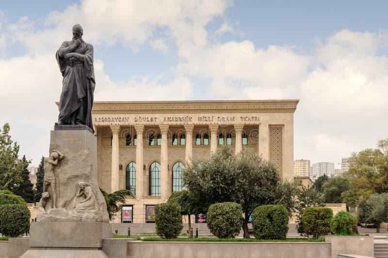BAKU, AZERBEJDŻAN - 17 2014 PAŹDZIERNIK: Azerbejdżan stanu dramata Akademicki Theatre zdjęcia royalty free