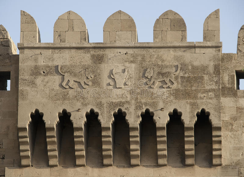 Download Baku, Bas-relief On Old Tower Stock Image - Image: 21906917
