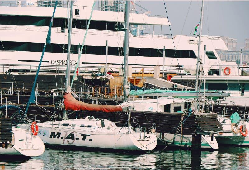 Baku boulevard yacht club Baku Azerbaijan 28 settembre 2019 fotografia stock