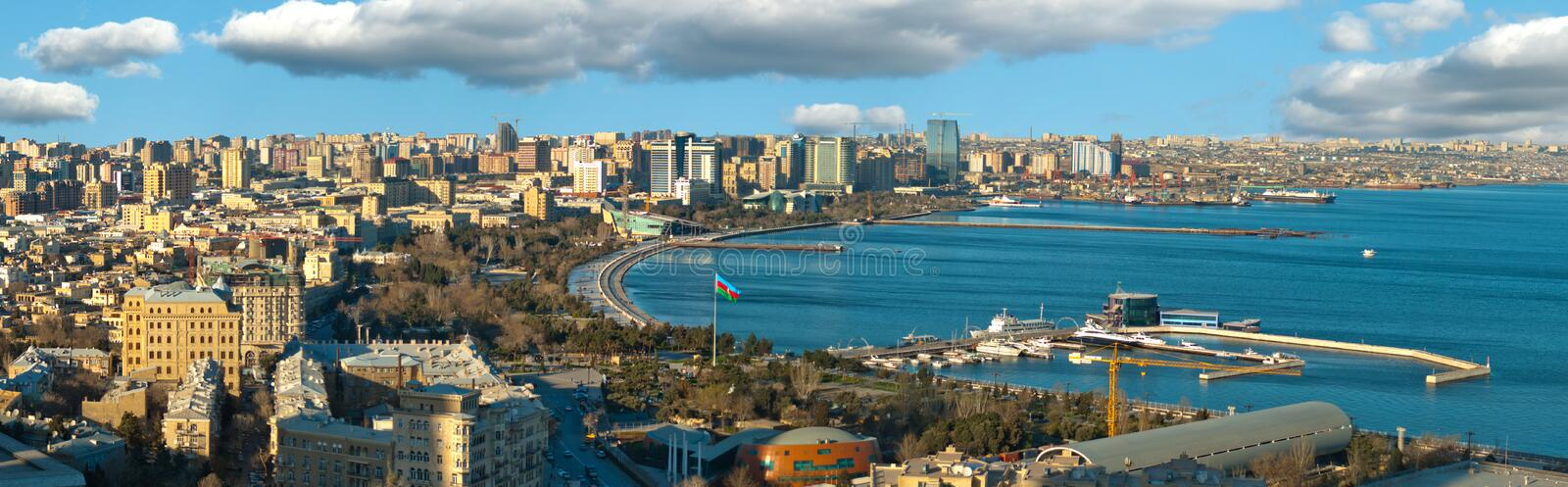 Download Baku And Caspian Sea Panorama Stock Image - Image: 21199925