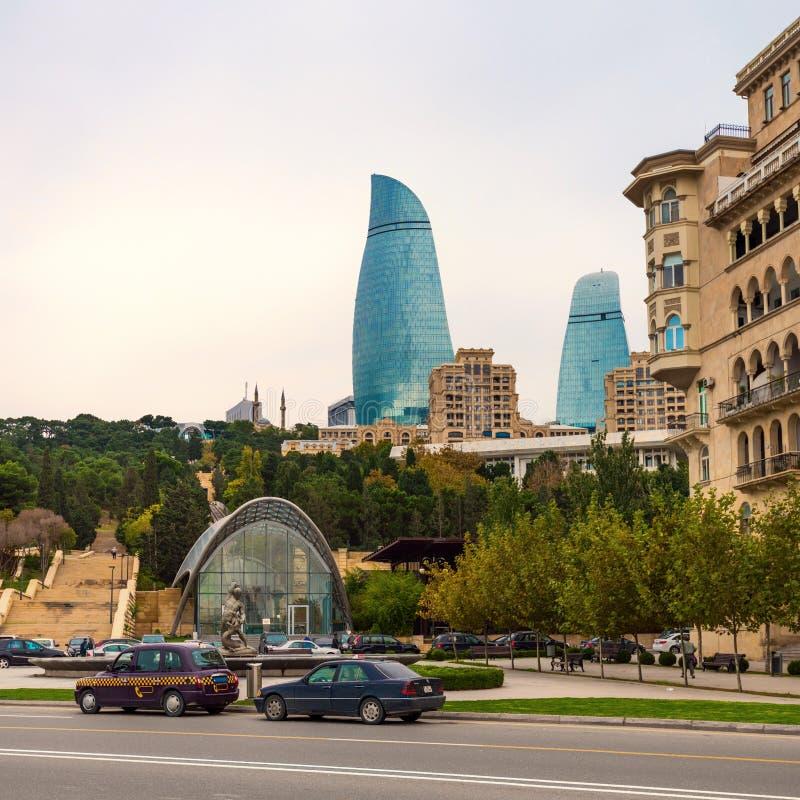 Baku City arkivbilder