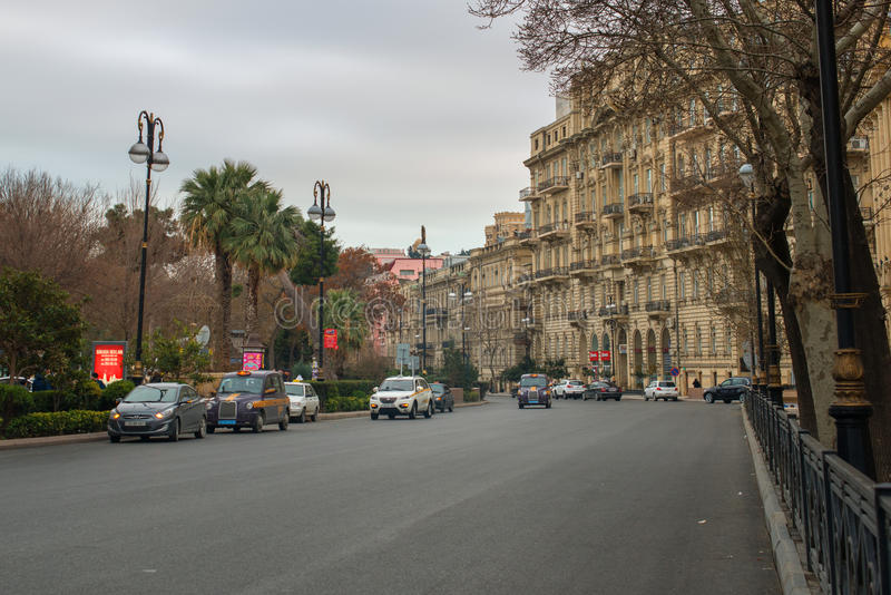 Baku City Circuit voor Europese Grand Prix F1 stock foto's