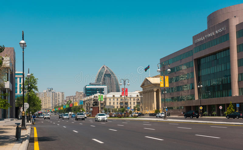 Baku city streets royalty free stock photography