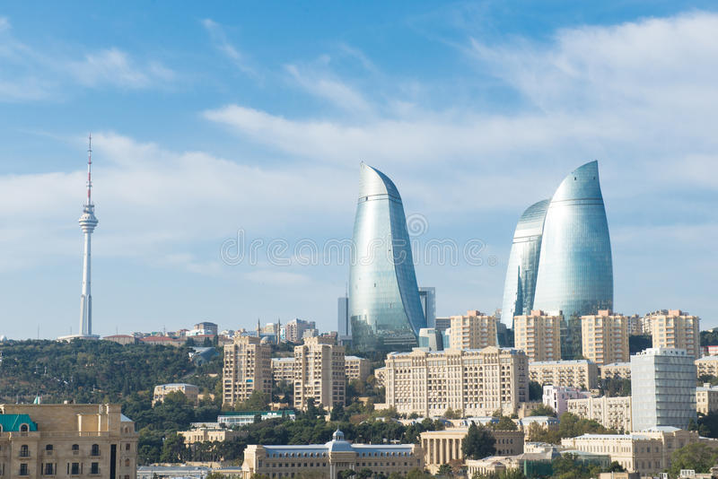Baku City royalty free stock photo