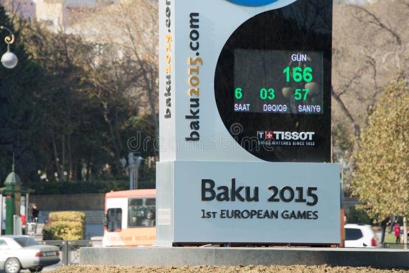 Baku - DECEMBER 28, 2014: 2015 Europese Spelen royalty-vrije stock afbeeldingen