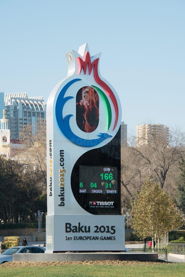 Baku - DECEMBER 28, 2014: 2015 Europese Spelen royalty-vrije stock fotografie