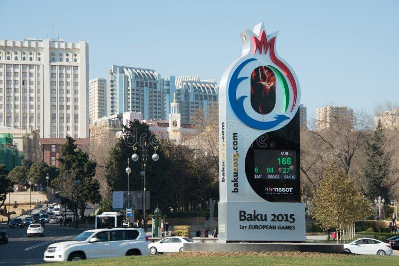 Baku - DECEMBER 28, 2014: 2015 Europese Spelen stock afbeelding