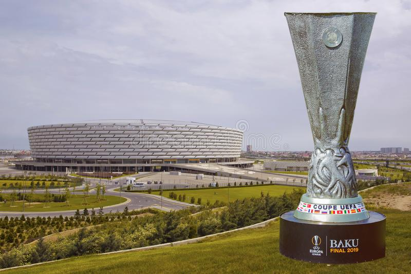 Baku Final 2019 UEFA del coupé Europa League 2019 Baku Olympic Stadium Final 2019 fotografia stock libera da diritti