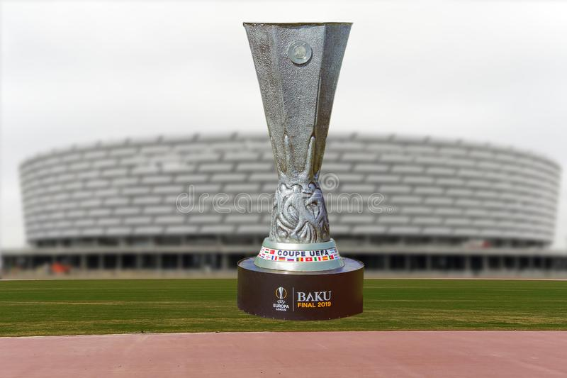 Baku Final 2019 UEFA del coupé Europa League 2019 Baku Olympic Stadium Final 2019 fotografie stock libere da diritti
