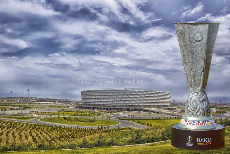 Baku Final 2019 UEFA del coupé Europa League 2019 Baku Olympic Stadium Final 2019 fotografia stock
