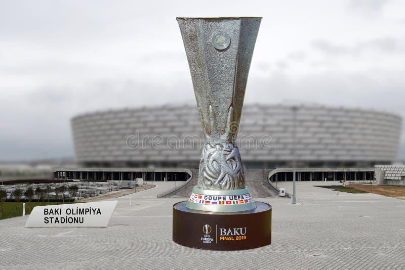 Baku Final 2019 UEFA del coupé Europa League 2019 Baku Olympic Stadium Final 2019 immagine stock