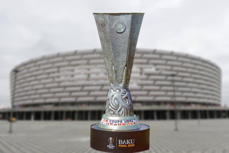 Baku Final 2019 UEFA del coupé Europa League 2019 Baku Olympic Stadium Final 2019 fotografie stock