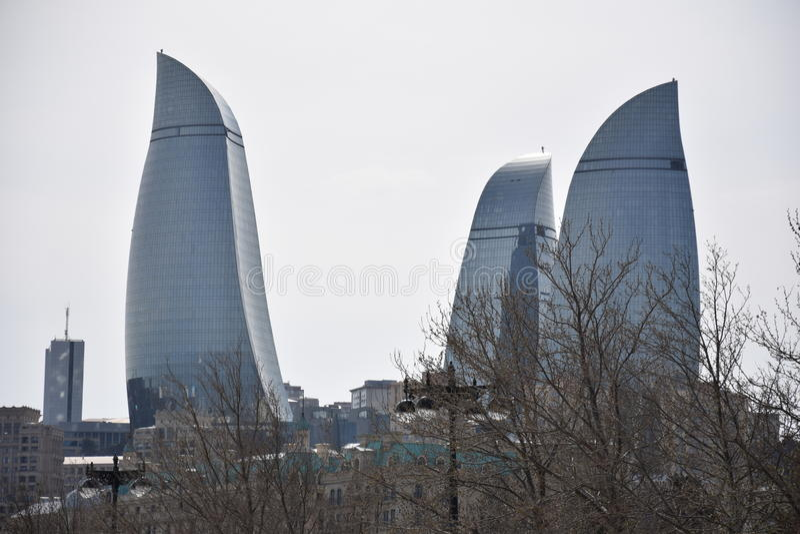 Baku Flame Towers photo libre de droits