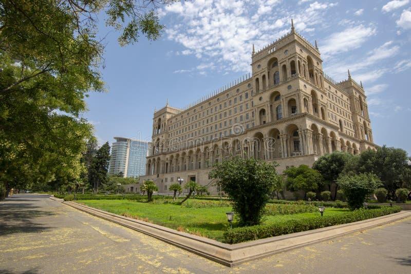 Baku Government House stock afbeeldingen
