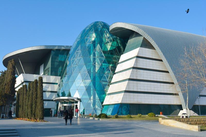 Baku - het kapitaal van de de zomer Europese Olympische Spelen 2015, oude stadsstraten royalty-vrije stock afbeeldingen