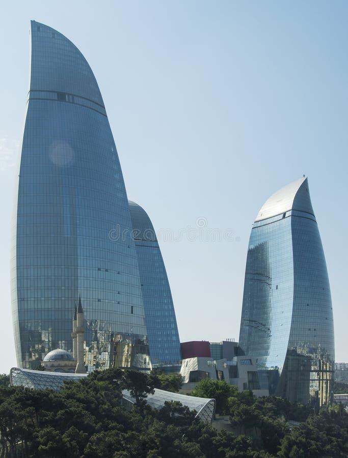 Free Baku - MAY 31, 2014: Flame Towers On May 31 In Azerbaijan, Baku. Royalty Free Stock Photography - 49383957