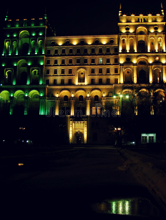 Baku By Night stock foto's