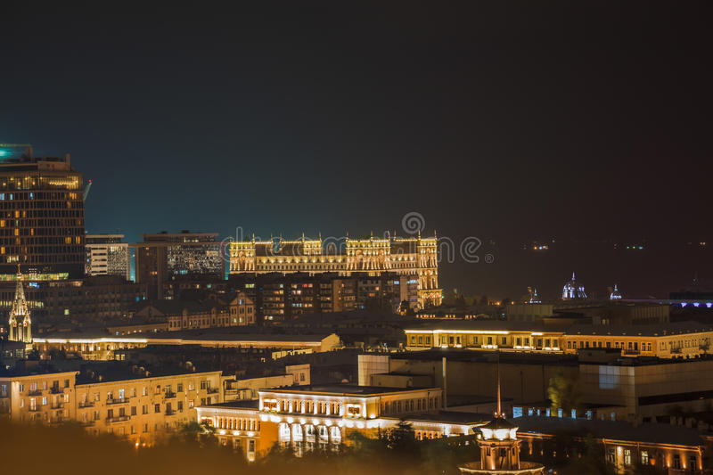 Baku in the night royalty free stock photos