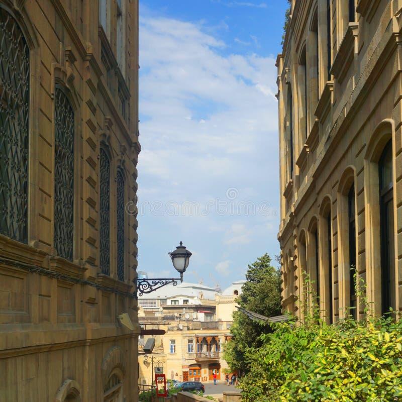 Baku Old City Street View stock photo
