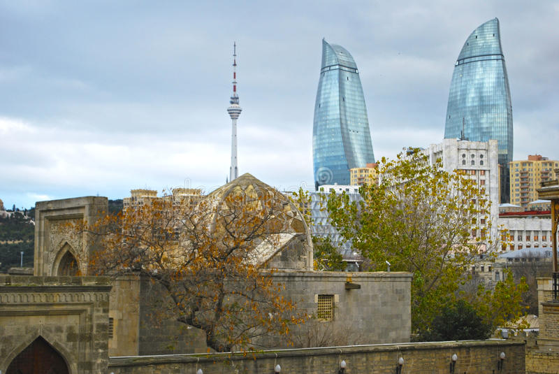 Baku, płomień Góruje obraz stock
