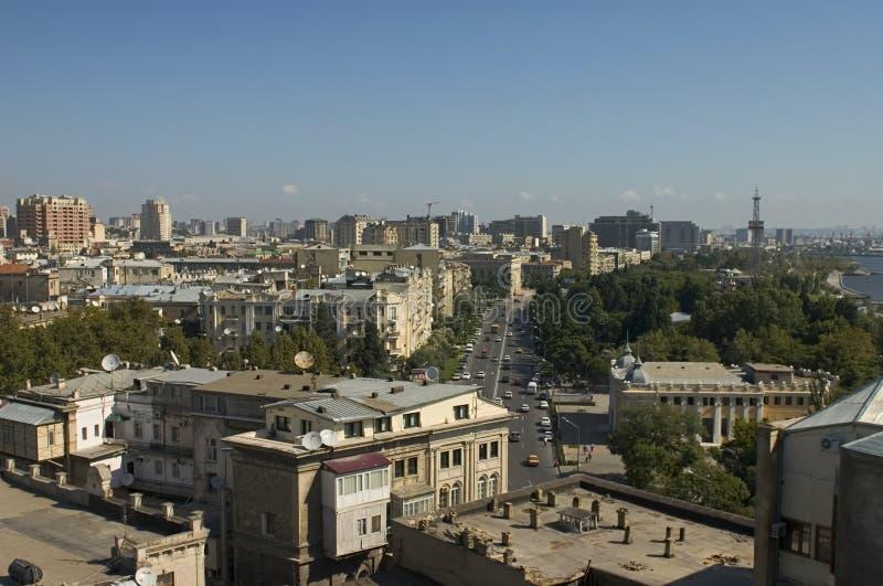 Baku panorama. royalty-vrije stock fotografie