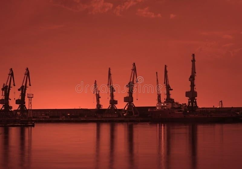 Download Baku Port At Night Royalty Free Stock Image - Image: 1232456