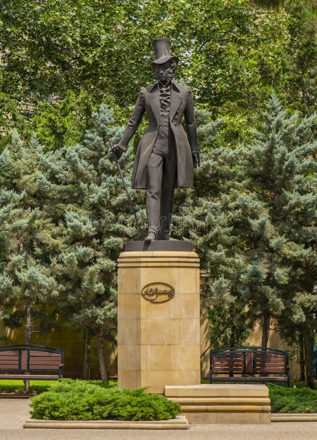 Baku Pushkin Monument fotos de archivo