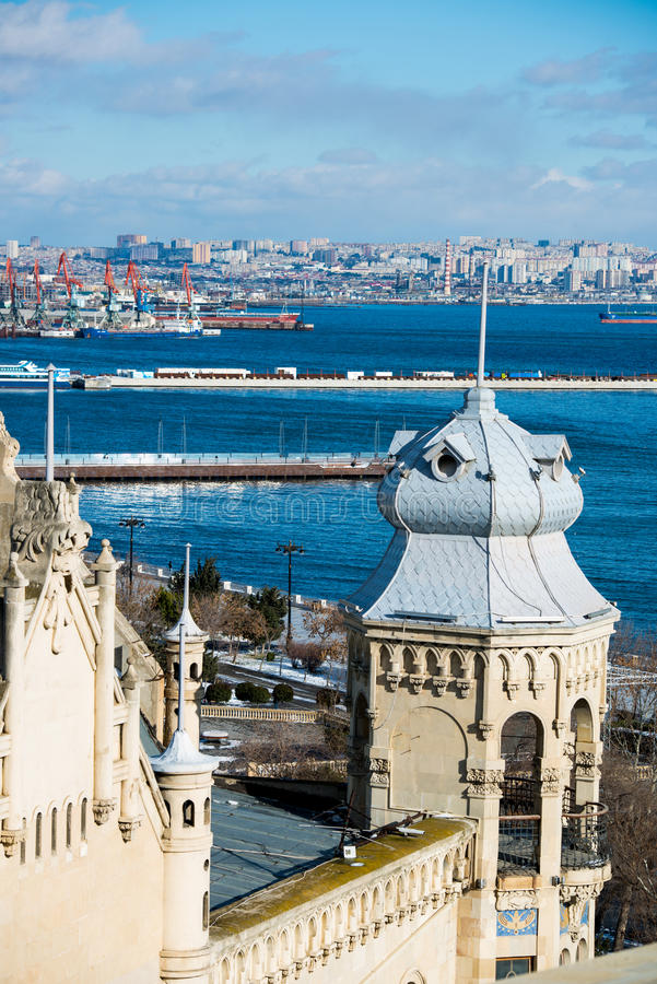 Baku Sea Port stock image