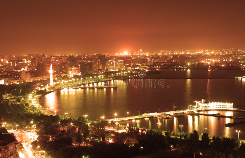 Baku stad stock foto