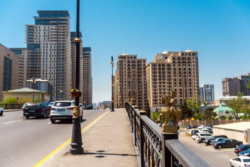 Baku stadsstraten stock afbeeldingen