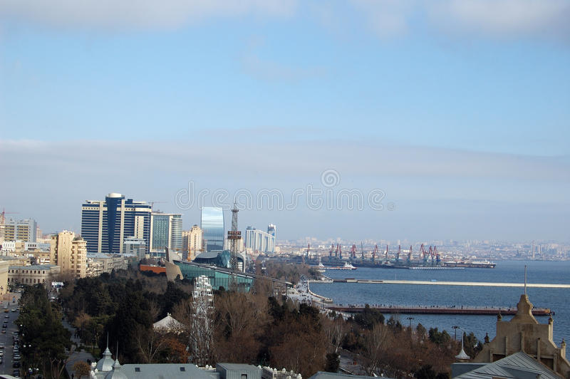 Download Baku view stock photo. Image of industrial, quay, roof - 27085900