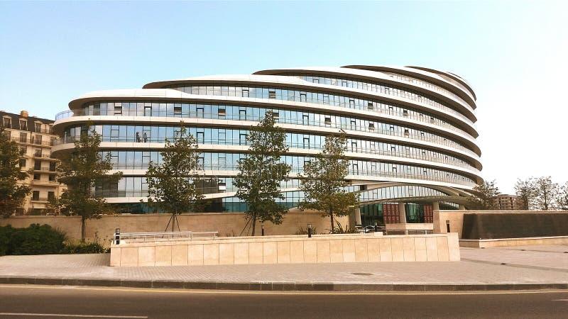 Baku white city office building stock photography