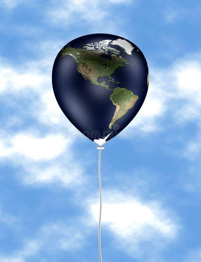 Balão 01 da terra ilustração do vetor