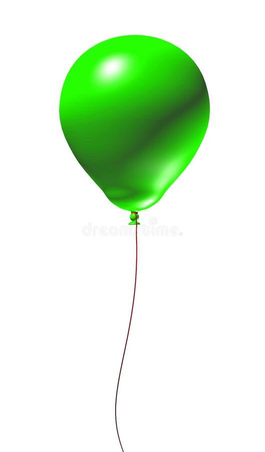 Balão 3d verde ilustração royalty free