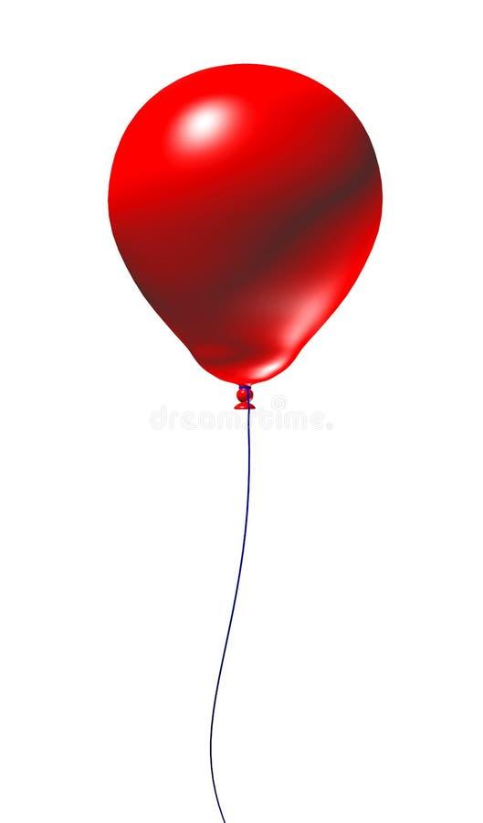 Balão 3d vermelho ilustração royalty free