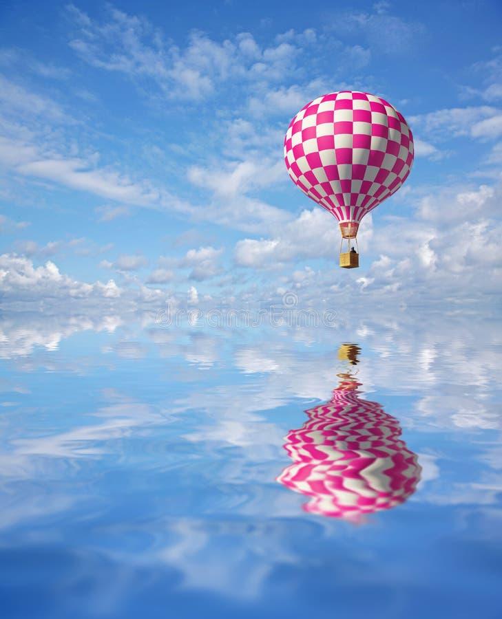 balão 3d Vermelho-branco ilustração royalty free