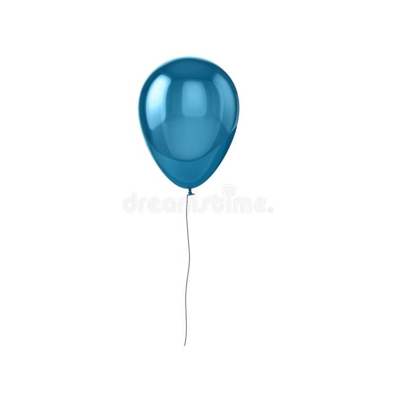 Balão azul brilhante ilustração stock