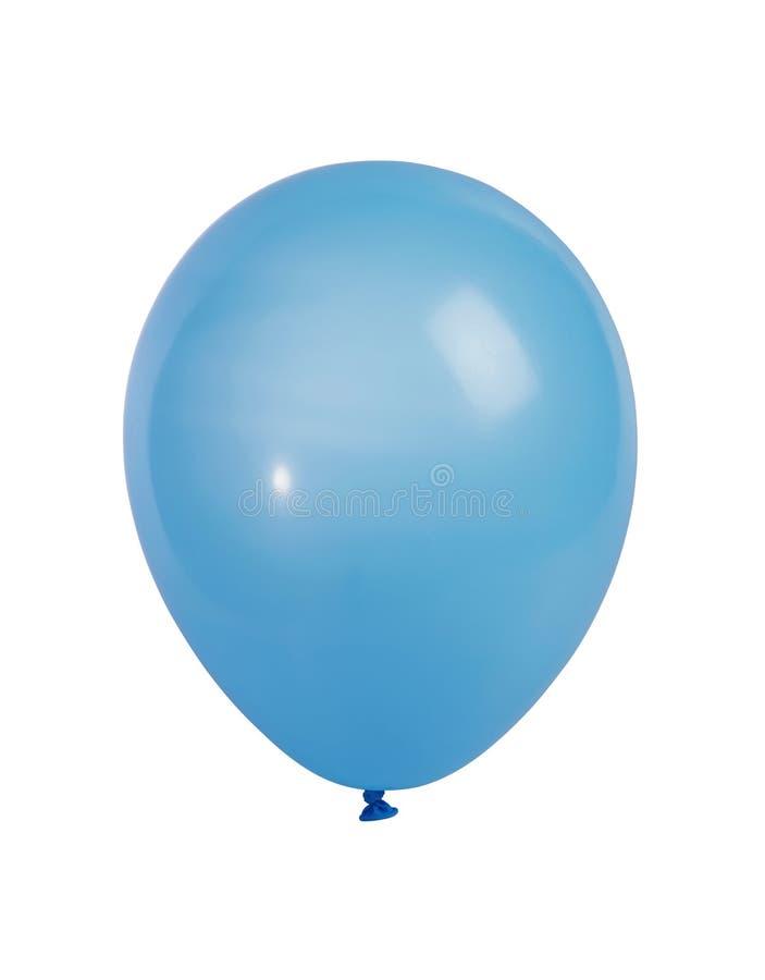 Balão azul isolado no branco fotografia de stock