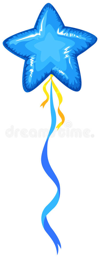 Balão azul na forma da estrela ilustração stock