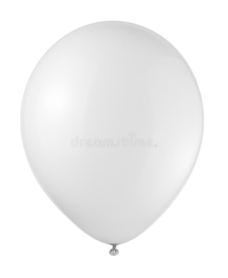 Balão branco fotografia de stock royalty free