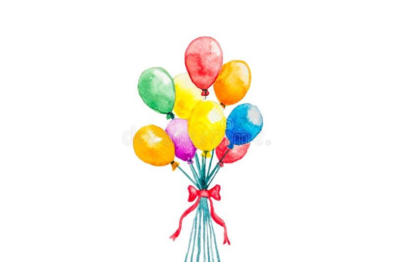balão da aquarela imagem de stock royalty free